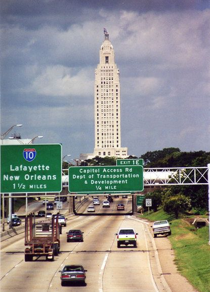 Baton Rouge, LA : Baton Rouge Capital view from westbound ...
