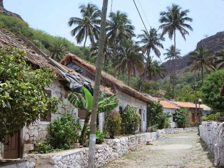Rua de Banana is the oldest street of Cidade Velha (Ribeira Grande) on the south coast of Santiago Island, Cape Verde.