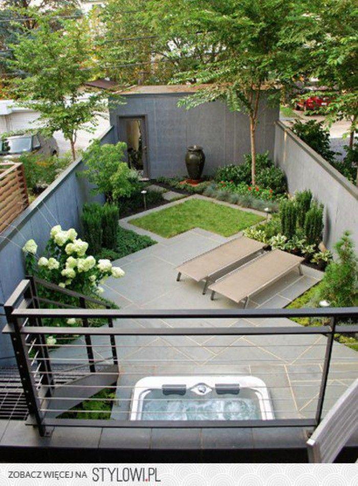 ruimtelijke indeling voor een kleine tuin.