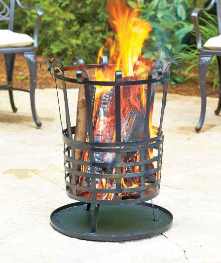 Cozy backyard fire pit- love the portability of this one.