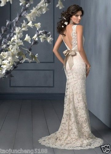 Best 25  Ivory lace wedding dress ideas on Pinterest | Lace ...