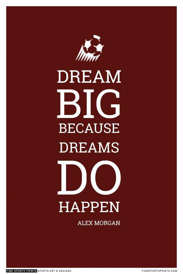 """Alex Morgan Quote on Print. See more at www.finesportsprints.com #morgan #sportsquote #teamusa"""