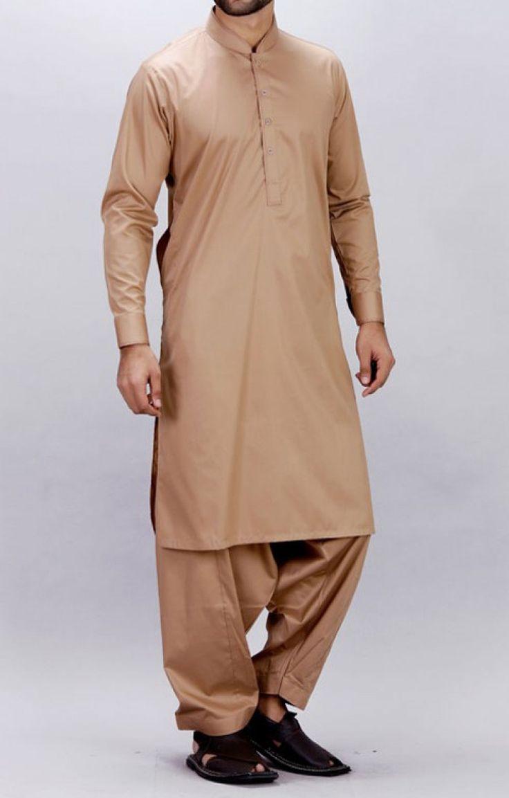 Beige Wash n Wear Men Shalwar Kameez Contact: (702) 751-3523  Email: info@pakrobe.com  Skype: PakRobe