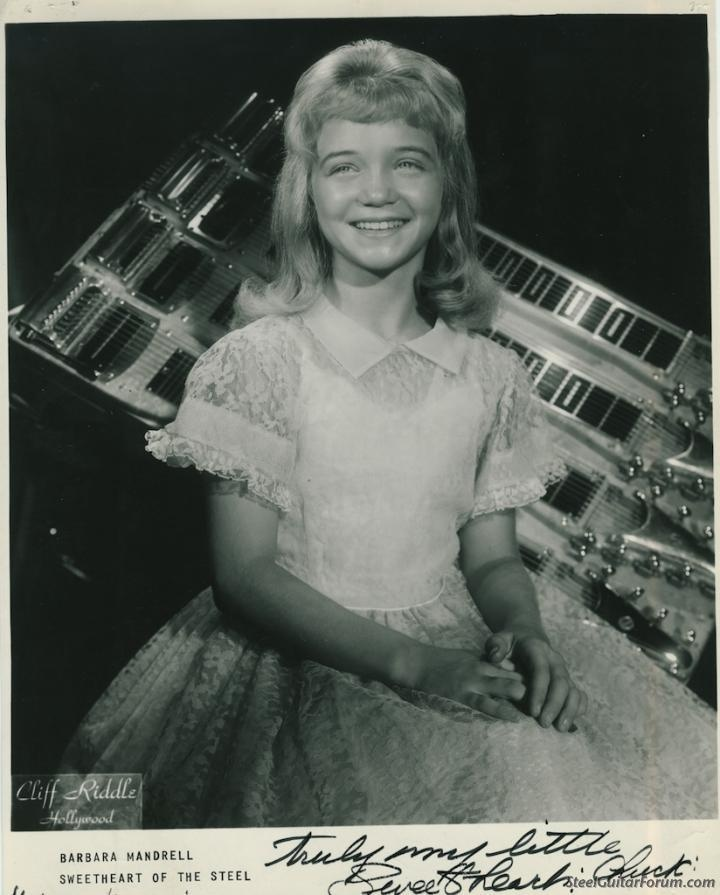 12 year old Barbara Mandrell with her Wright custom steel ...