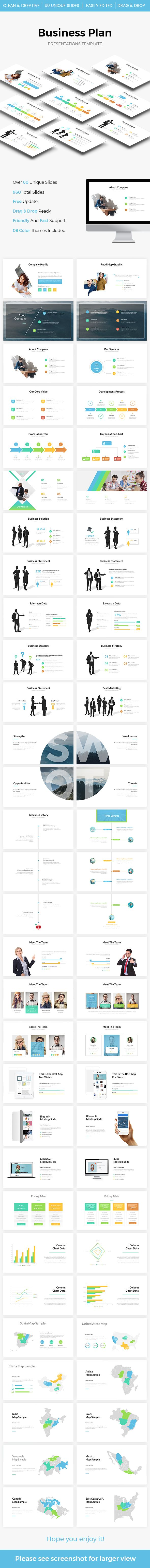 Business Plan Powerpoint Template - #PowerPoint Templates Presentation Templates