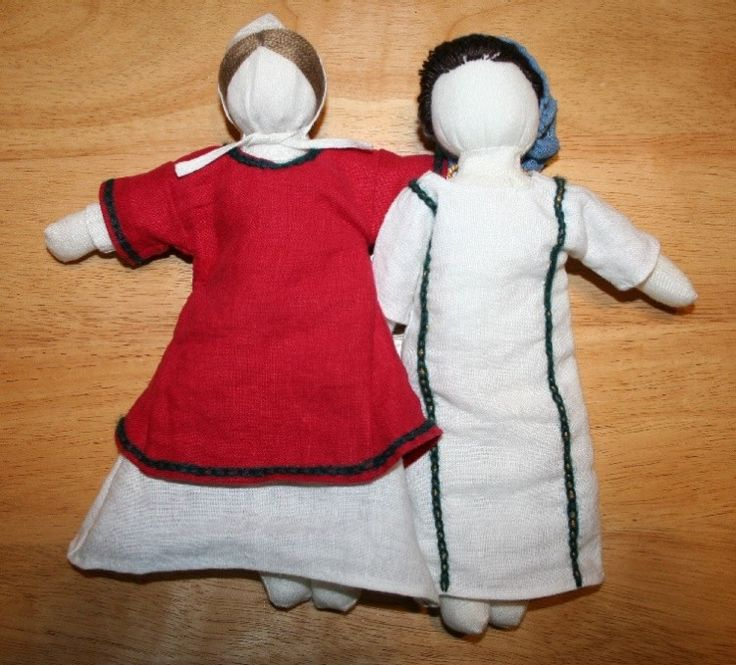 Medieval linen doll, based on the 1-5th century Roman doll found in Egypt.