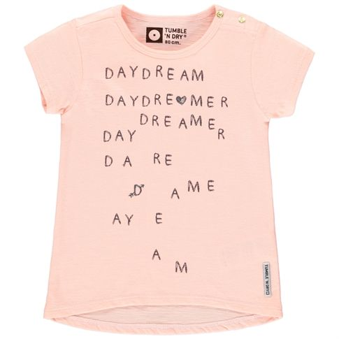 Possum Meisjes Lo T-shirtPossum Meisjes Lo T-shirt, Orange Salmon