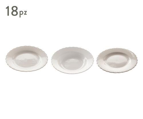 Servizio di piatti bordo smerlato in gres sabbia colore Sabbia  ad Euro 69.00 in #La fabbrica del verde #Kitchendining tablewareserveware