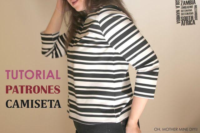 DIY, patrones, ropa de bebe y mucho más para coser.: DIY Camiseta básica de mujer (patrones gratis)