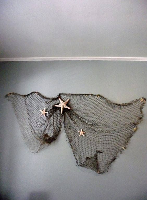 Fishing net wall art
