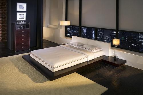 Modern Bedroom Furniture by modloft, via Flickr | Invisibility. Modesty is key, folks.