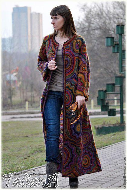 Вязаное пальто 'Super Kaleidoscope' в интернет-магазине на Ярмарке Мастеров.
