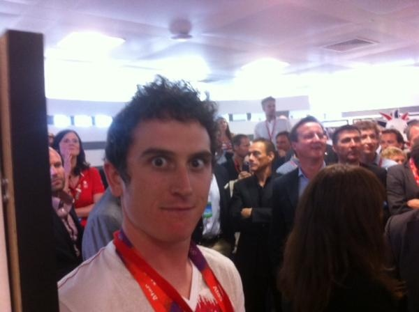 @chrishoy Hilarious pic of @GeraintThomas86 no. 1. See if you can spot Jason Statham, David Cameron& JeanClaude Van Dame!