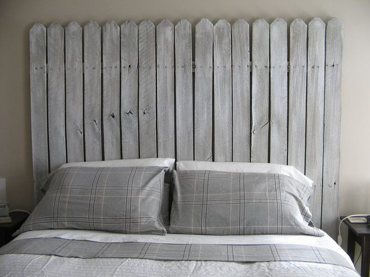 diy picket fence headboard