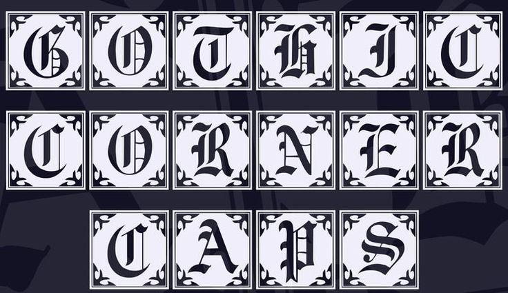 Gothic Corner Caps Font