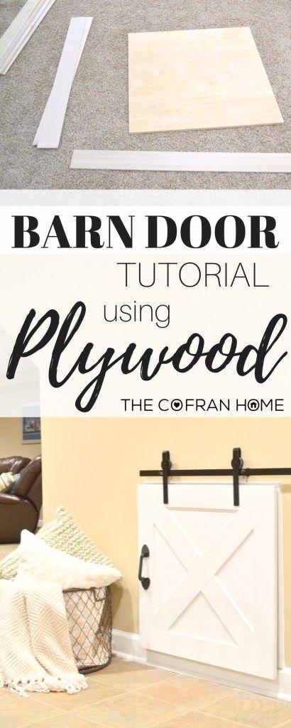 DIY Crawl Space Barn Door full tutorial (including how to DIY your own Hardware!)