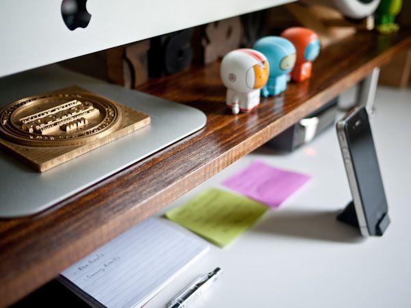 Custom Monitor Stand (IKEA hack). Use Capita legs: http://www.ikea.com/us/en/catalog/products/10267895/