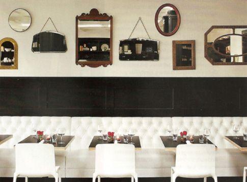restaurant banquette google search - Beaded Inset Restaurant Decoration