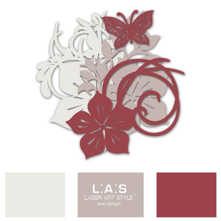 Una #palette colori sobria e al tempo stesso inebriante, è la combinazione scelta per questo #floreale #laserartstyle, che sembra emanare profumo di primavera! Piace anche a te?