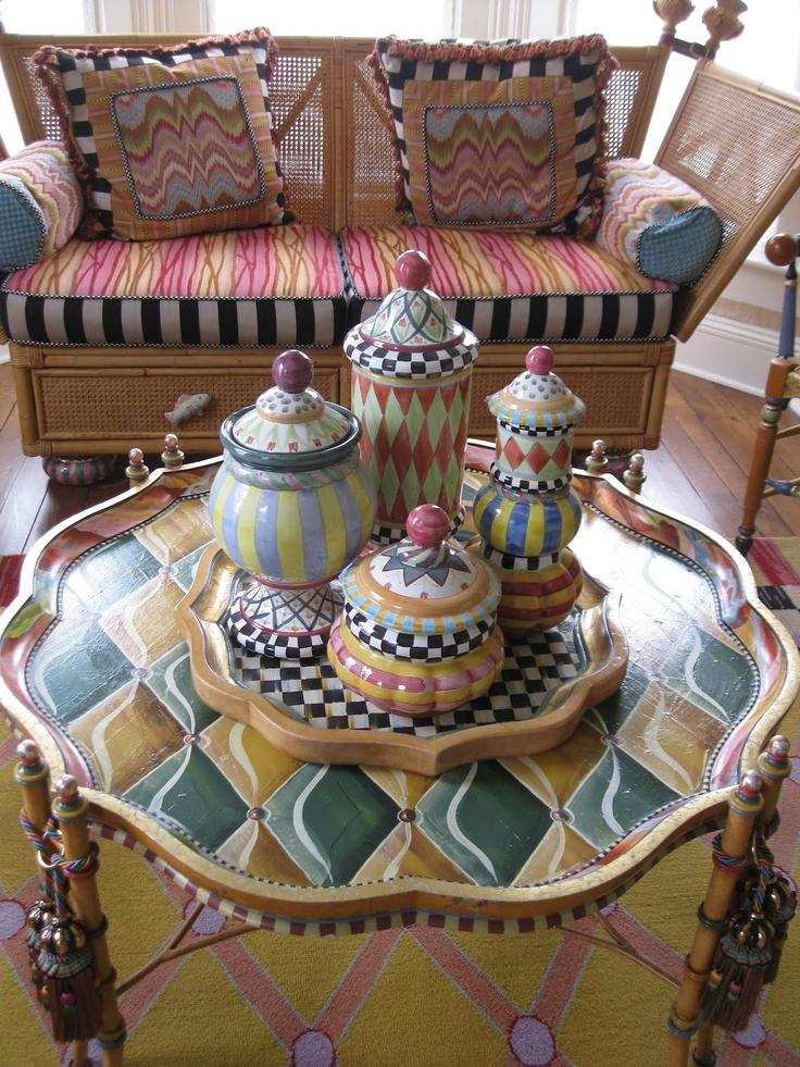 Painted Wicker, Painted Pots, Funky Furniture, Furniture Redo, Painted  Furniture, Upholstered Furniture, Studio Design, Design Interiors, Mack  Attack