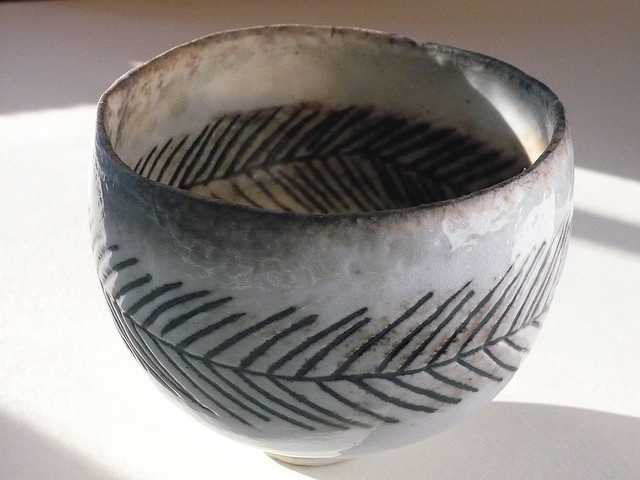 woodfired vase    Pinched porcelain bowl