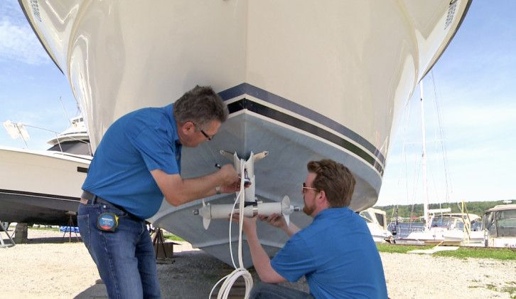 Installing A Sideshift Bow Thruster Boats Places Boat Power Wire Power Boats