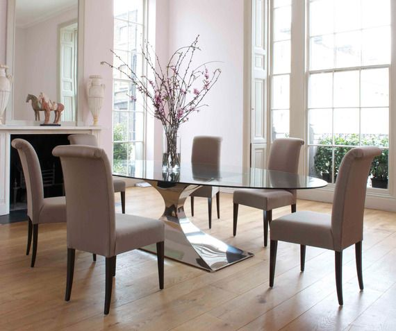 Glass Oval Dining Room Tables