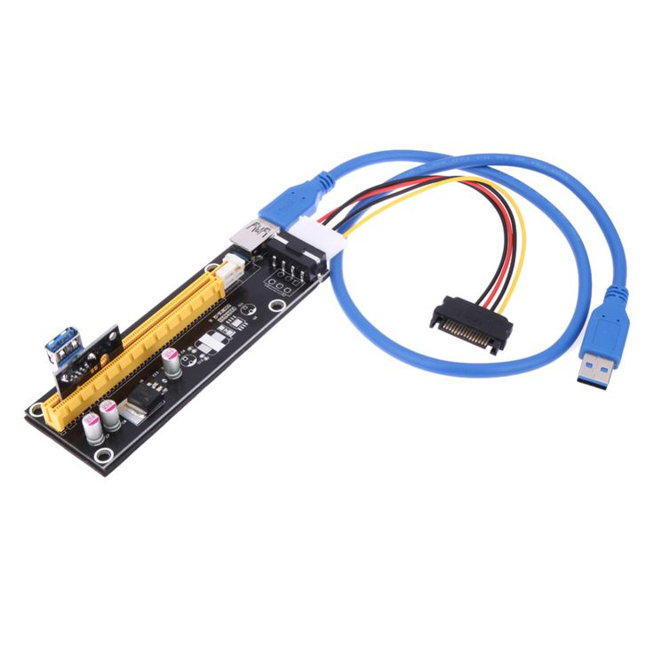 >> Click to Buy << 60cm USB 3.0 PCI-E Express 1x Extender Riser Card Board 16x Adapter with SATA 15 Pin-4Pin Power Cable for Asic Bitcoin Miner #Affiliate