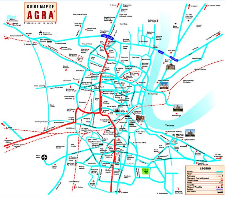 Agra Tourist Map #agracitymap #agratourismpap #agratouristmap http://www.toursoftajmahal.com/blog/agra-tourist-map/