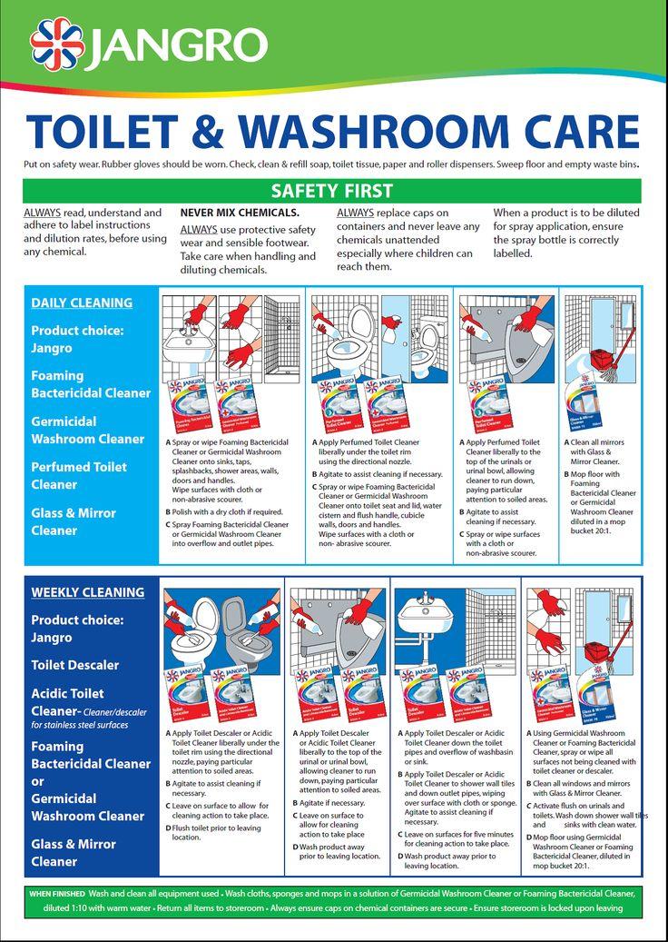 Washroom Chart Cleaning