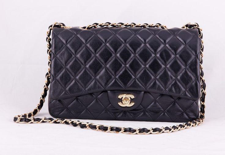 Сумка Chanel Classic flap bag из натуральной кожи ягненка. Размер 30x23x10cm #19680
