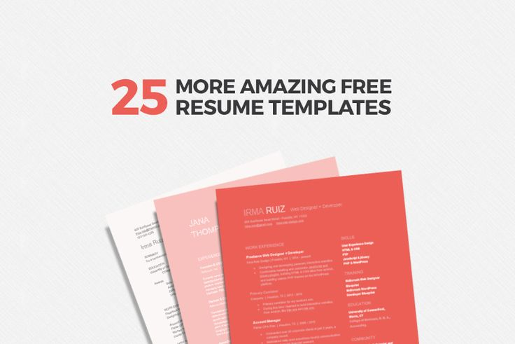 Not a designer but still want a unique, creative resume? We rounded up 25 free resume templates for Microsoft Word, Adobe Illustrator, Photoshop, and InDesign.