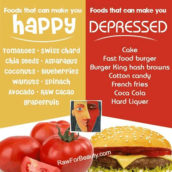 Some foods can make you happy, some foods can make you depressed