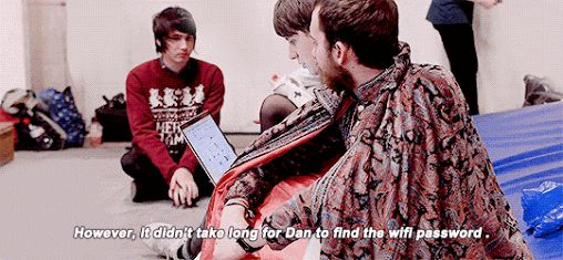 dan in pj's video on the making of the forever train