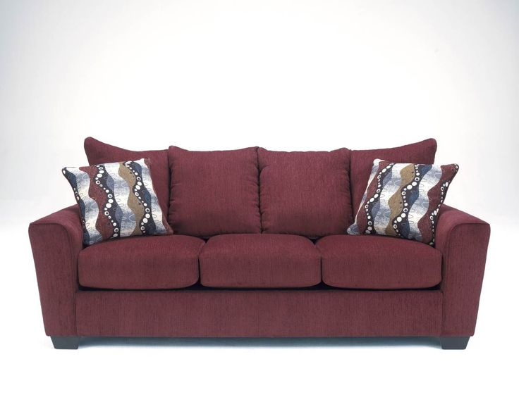 Brogain Burgundy Wood Fabric Sofa 2690138 2690138 : home decor : Pinterest : Fabrics, Sofas and ...