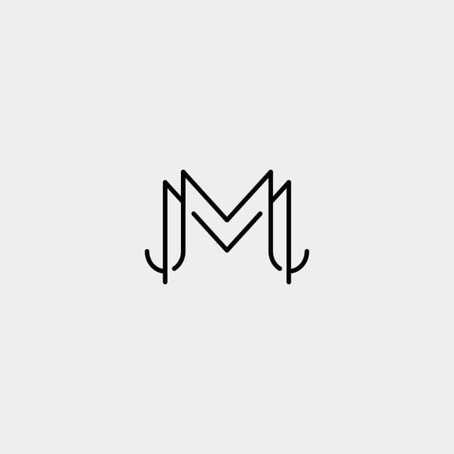 Letter M Mm Monogram Logo Design Minimal Handmade Logo Design Minimal Logo Design Handmade Logo