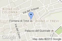 Fontana de Trevi, mapa de localización