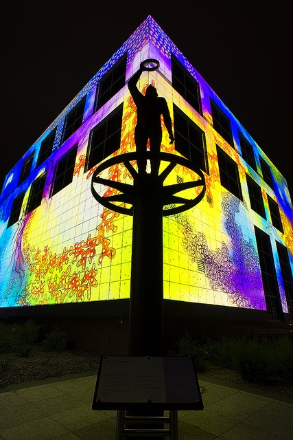National Science and Technology Centre - Canberra. Lit up for the Enlighten festival.