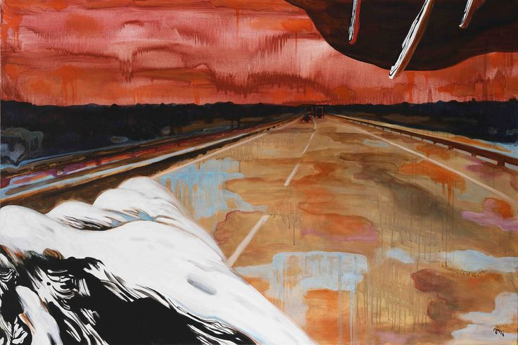 Jiří Hauschka: Highway, 2015, acrylic on canvas, 100 x 150 cm