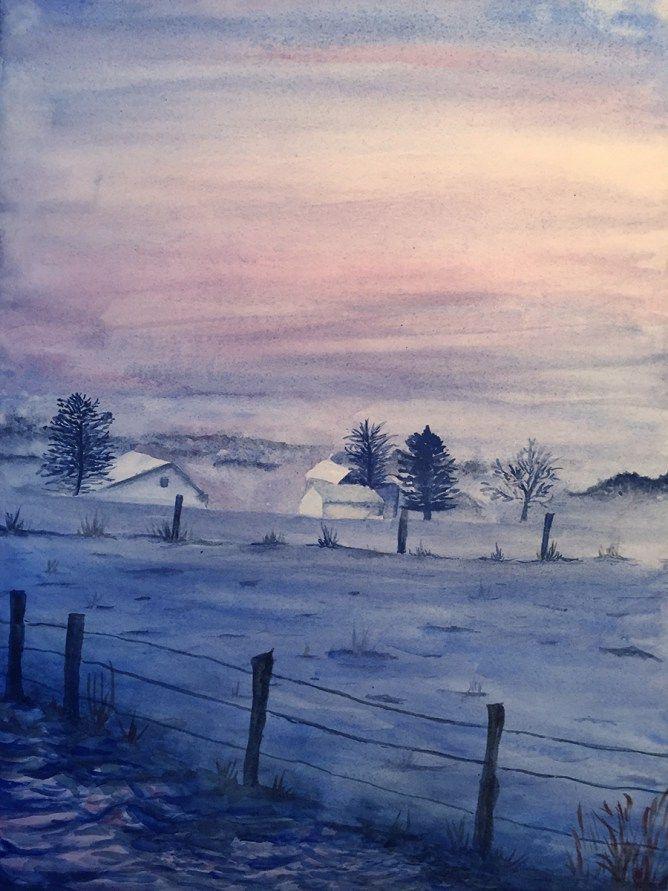 Hivernal  #watercolor