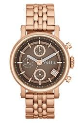 Fossil 'Original Boyfriend' Chronograph Bracelet Watch, 38mm  Can't wait for this baby to get here!