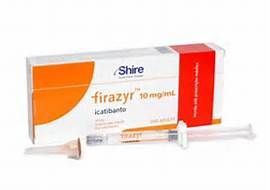 Firazyr is a medicine that is used to treat mild, moderate, and acute Hae flareups in types 1, 2, and 3. This medicine can be administered by the patient anywhere. No healthcare supervision is necessary. It is portable and I carry it with me everywhere. It can serve as a rescue medication until you can get to an er in case of a throat swelling. This medicine has given me my life back! I don't know what I would do without it.