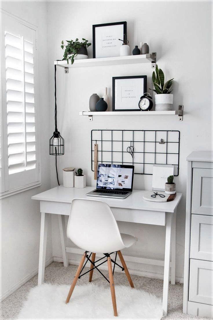 Cute Desk Area For A Bedroom Area Bedroom Cute Desk Work Area Decoration Office In 2020 Minimalist Home Decor Minimalist Living Room Design Minimalist Living Room