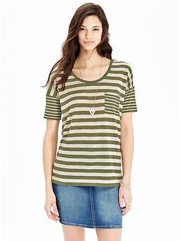 Womens Linen-Blend Boyfriend Tees Loved and repinned by Hattie Reegan's www.etsy.com/shop/hattiereegans