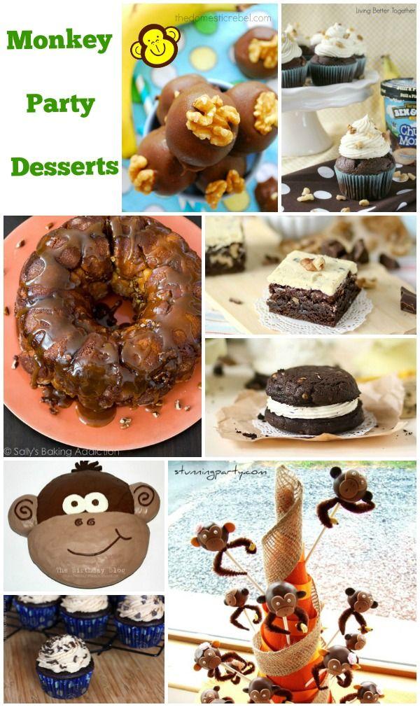 Monkey Party Desserts http://www.momsandmunchkins.ca/2014/06/07/monkey-party-food-ideas/ #MonkeyParty