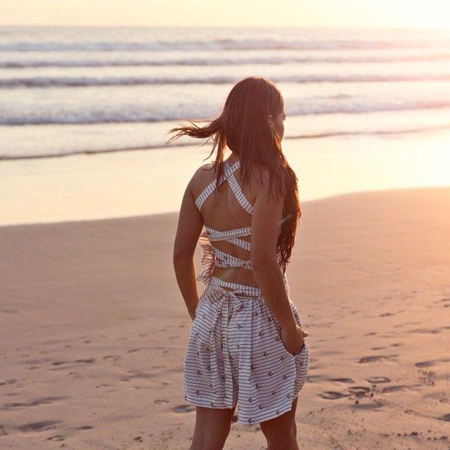 #summer... Wet hair don't care! #signature #mariniera #playsuit #puravida #resort #collection #pacific #ocean #sunset #CostaRica  by @georgesantamouris