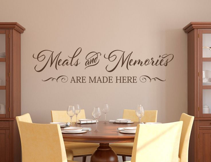 vinyl wall quote for the dinning room | creative vinyl graphics