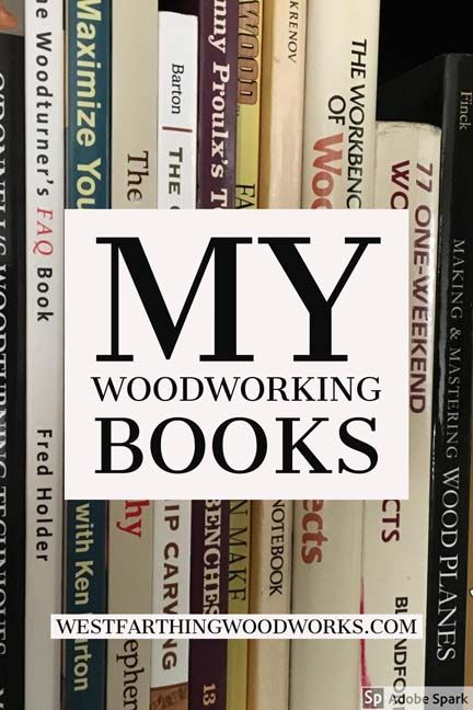 There are my woodworking books. I have been fortunate to be able to write five woodworking books so far, and more are in progress. I love sharing my passion for woodworking with everyone, and I look forward to writing more in the future. Happy building.