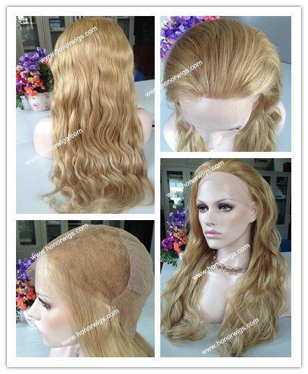 Смешанный цвет парики 8 дюйм(ов) до 84 дюйм(ов) различных длина волос белая блондинка 100% волос полный парики шнурка