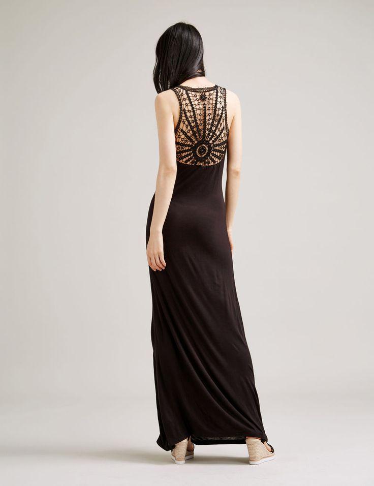 Robe longue tube noire femme • Jennyfer